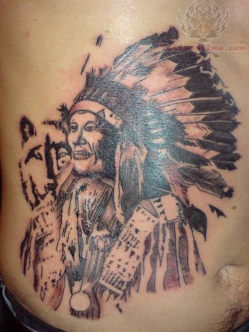 Indian Tattoo On Belly