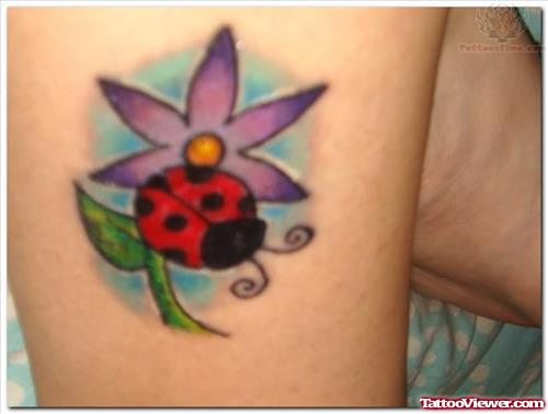 Awesome Ladybug Tattoo