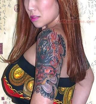 Japanese Shoulder Tattoo