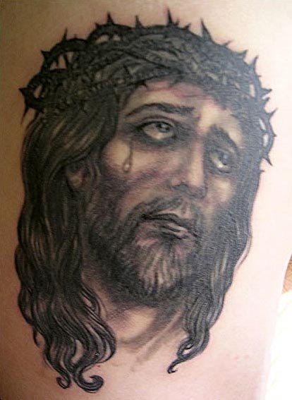 Dark Ink Jesus Christ Tattoo