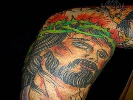 Colorful Jesus Tattoo Designs