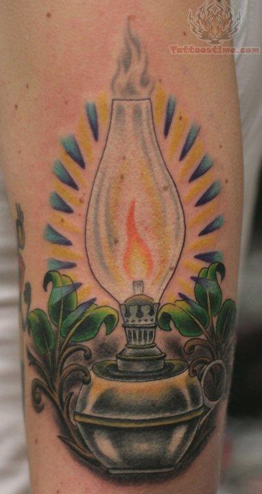 Oil Lamp Tattoo
