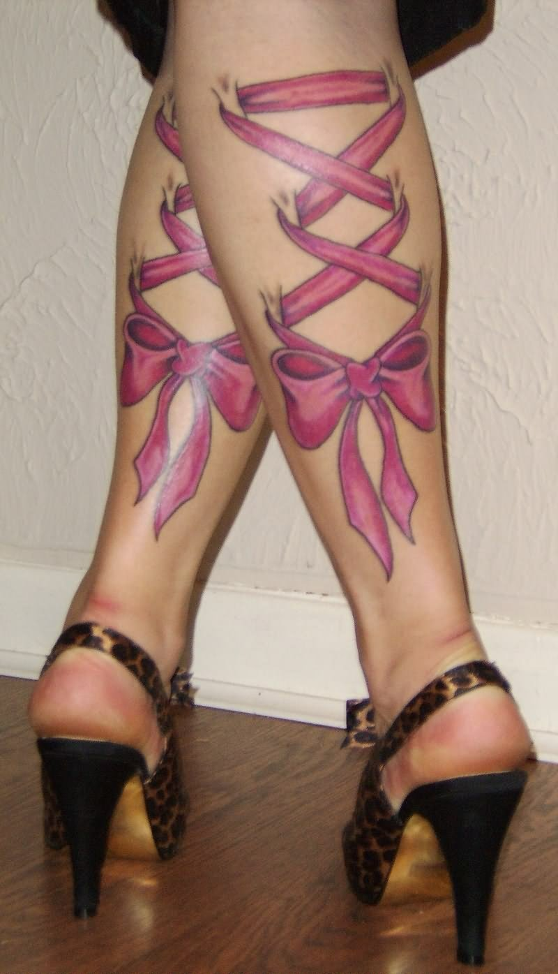 Girl's Leg Tattoos