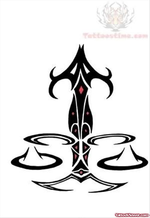 Libra Zodiac Tattoo Designs