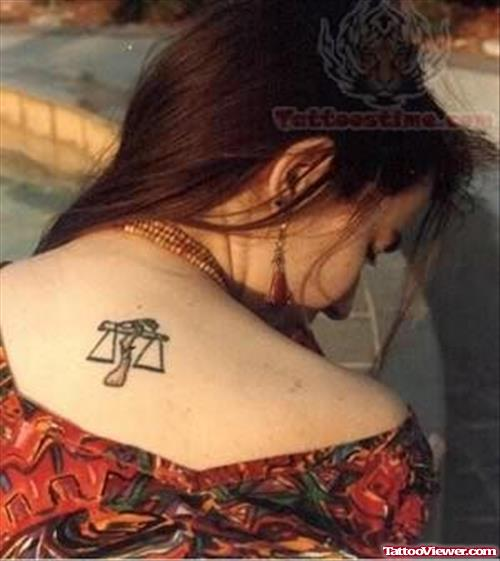 Beautiful Back - Libra Zodiac Tattoo