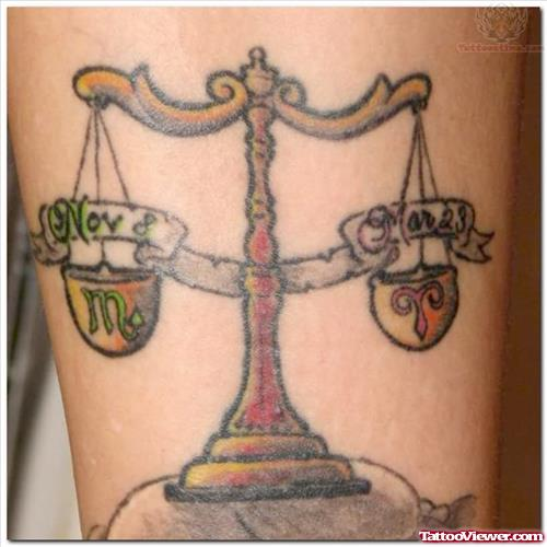 Libra Tattoo Designs Art
