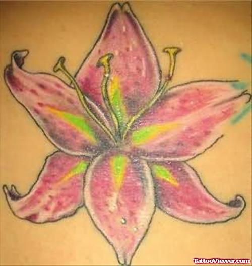 Mind Blowing Lily Flower Tattoo
