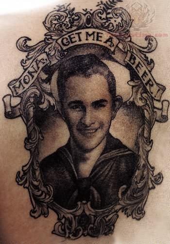 Memorial Portrait Tattoo
