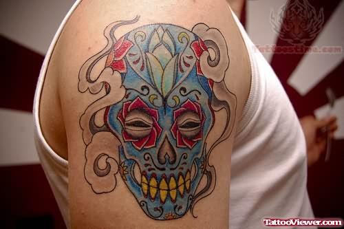 Colorful Mexican Tattoo