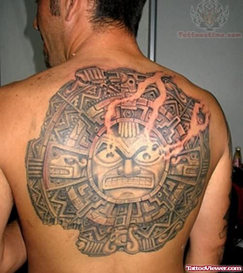 Aztec Mexican Sun Tattoo