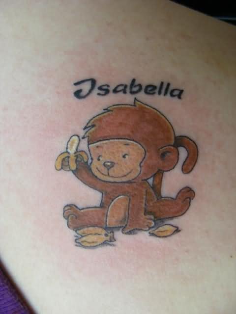 Small Monkey Tattoo