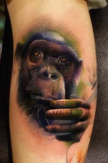 Chimpanzee Tattoos On Arm