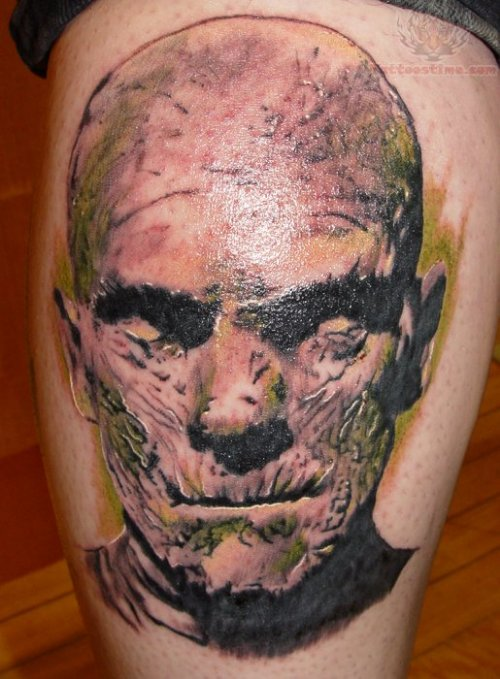 Mummy Screaming Tattoo