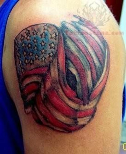American Tattoo On Shoulders