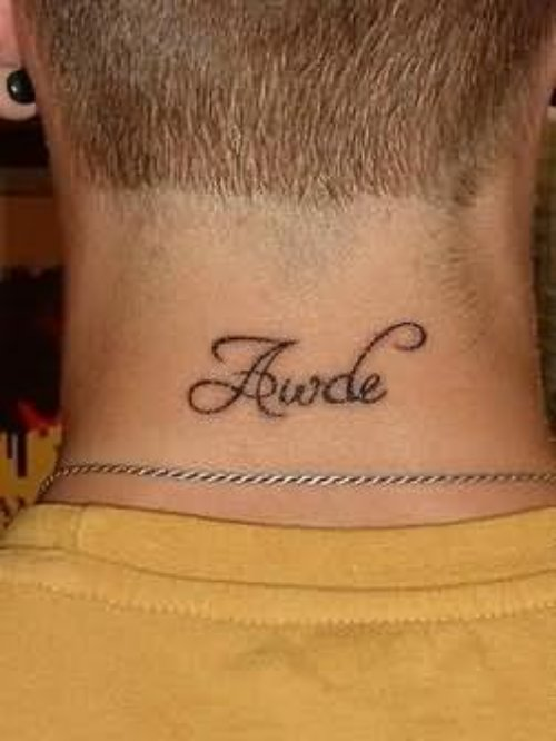 Beautiful Neck Tattoo