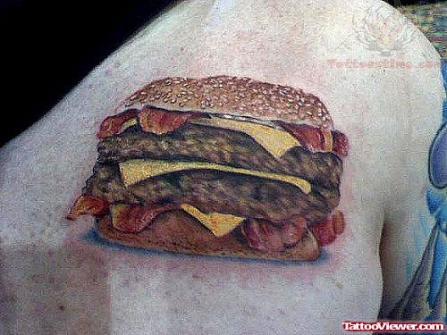 Awesome Burger Tattoo
