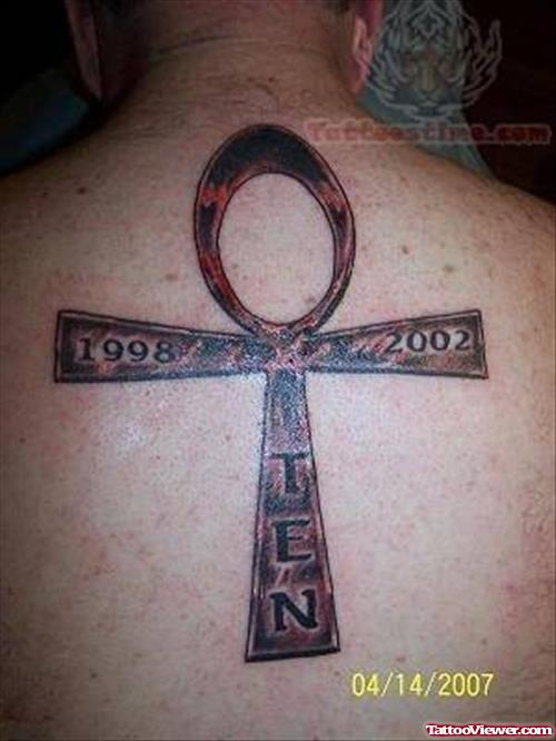 Ankh Tattoo On Back