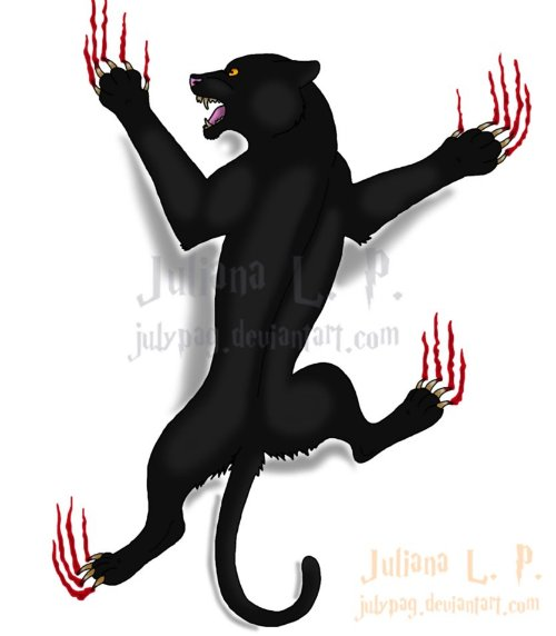 Paw Scratches Black Panther Tattoo Design