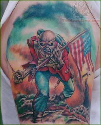 Eddie Patriotic Tattoo