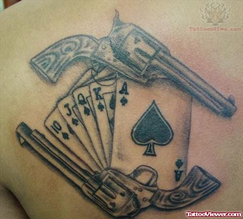 Pistols And Cards Tattoo