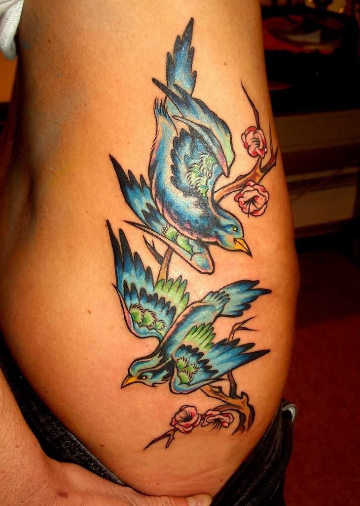 Rib Bird Tattoos for Girls