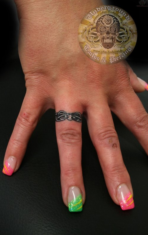 Ring Tattoo On Hand by Admin