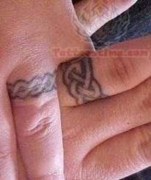 Celtic Weddint Rings Tattoos