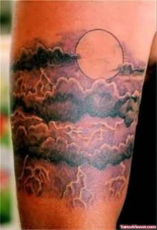Moon Tattoo On Shoulder