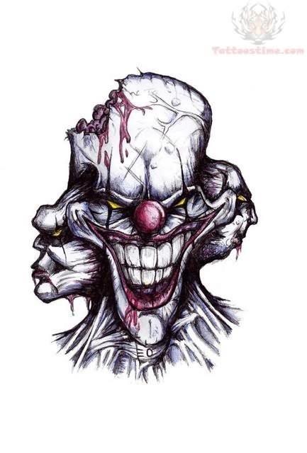 Funny Skulls Tattoos Designs