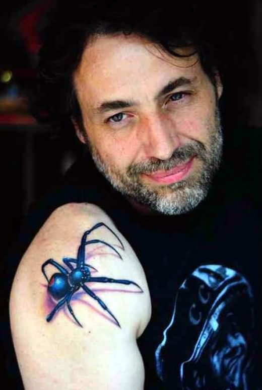 Very Cool 3D Spider Tattoo