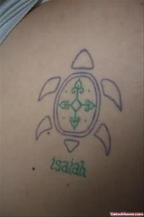 Simple Turtle Tattoo