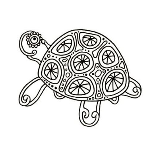 Wonderful Turtle Tattoo Design