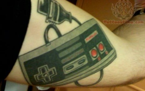 Video Game Controller Tattoo