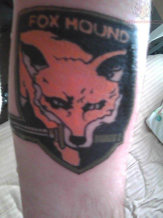 Fox Hound Video Game Tattoo