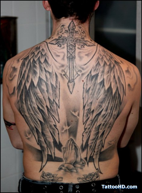 Wings Tattoo On BAck Body