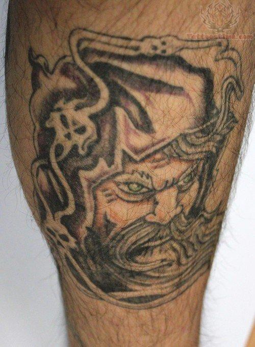 Large Wizard Tattoo