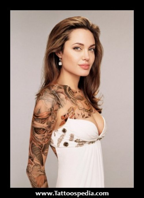 Nice Women Sleeve Tattoo